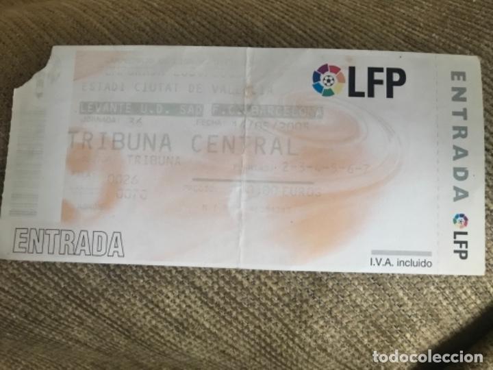 ENTRADA LIGA PROFESIONAL FUTBOL FC BARCELONA LEVANTE (Coleccionismo Deportivo - Documentos de Deportes - Entradas de Fútbol)