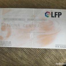 Coleccionismo deportivo: ENTRADA LIGA PROFESIONAL FUTBOL FC BARCELONA LEVANTE. Lote 142320930