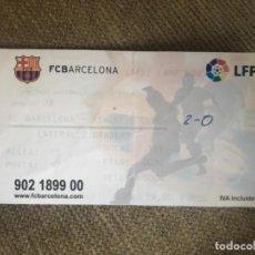 Coleccionismo deportivo: ENTRADA LIGA FÚTBOL PROFESIONAL ATH BILBAO FC BARCELONA . Lote 142322106