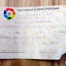 Coleccionismo deportivo: ENTRADA SUPER COPA DE EUROPA REAL ZARAGOZA AJAX AMSTERDAM 2006 TICKET FOOTBALL. Lote 143076290
