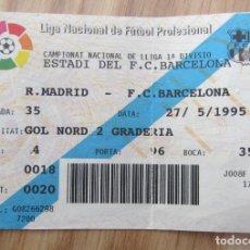 Coleccionismo deportivo: ENTRADA F.C. BARCELONA REAL MADRID 1995 CAMP NOU TICKET FOOTBALL. Lote 143076566