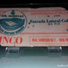 Coleccionismo deportivo: ENTRADA ESTADIO SANTIAGO BERNABEU. Lote 143718870