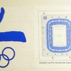 Coleccionismo deportivo: FOLLETO PASQUIN INFORMATIVO JUEGOS OLIMPICOS BARCELONA 92 LA ROMAREDA ZARAGOZA. Lote 144052778