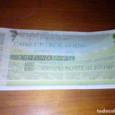 Coleccionismo deportivo: ENTRADA DE FUTBOL,. FASE DE ASCENSO A 2 DIVISION. CADIZ C.F. REAL OVIEDO. 31- 05 - 2015. EST24B2. Lote 144069298