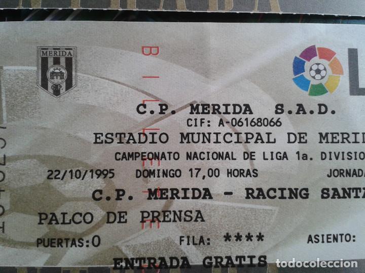ENTRADAS FUTBOL MERIDA 1995- 1996 1 DIVISION - LOTE DE 5 PARTIDOS O ENTRADAS (Coleccionismo Deportivo - Documentos de Deportes - Entradas de Fútbol)