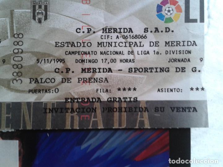 Coleccionismo deportivo: ENTRADAS FUTBOL MERIDA 1995- 1996 1 DIVISION - LOTE DE 5 PARTIDOS O ENTRADAS - Foto 4 - 144137534