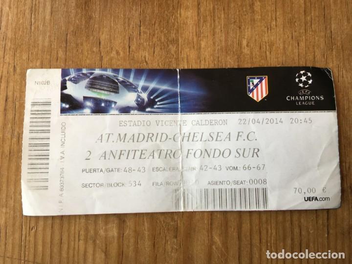 R5036 ENTRADA TICKET FUTBOL ATLETICO MADRID CHELSEA UEFA CHAMPIONS LEAGUE 2013 2014 (Coleccionismo Deportivo - Documentos de Deportes - Entradas de Fútbol)