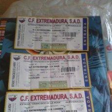 Coleccionismo deportivo: ENTRADAS C . F. EXTREMADURA : 3 ENTRADAS 2006- 2007. Lote 145293682