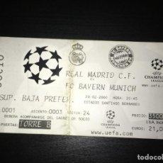 Coleccionismo deportivo: ENTRADA REAL MADRID - BAYERN MUNICH (CHAMPIONS LEAGUE, 29-2-2000). Lote 145422374