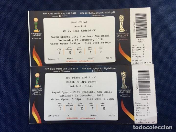 ENTRADA FINAL MUNDIALITO FIFA Club World Cup 2018 REAL MADRID KASHIMA ANTLERS AL-AIN segunda mano