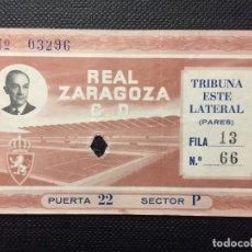 Coleccionismo deportivo: ENTRADA ORIGINAL AÑO 1957 INAUGURACIÓN LA ROMAREDA (REAL ZARAGOZA). Lote 146406150