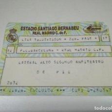 Coleccionismo deportivo: ENTRADA PARTIDO REAL MADRID - BARCELONA. TEMPORADA 86/87 LIGA DEL PLAY OFF. PARTIDO DE LA 2ª FASE. Lote 146580106