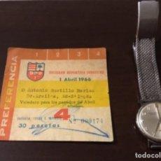 Coleccionismo deportivo: ANTIGUA ENTRADA FÚTBOL 1966. Lote 146679682