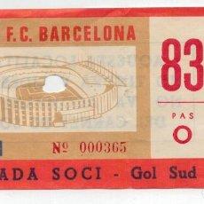 Coleccionismo deportivo: ANTIGUA ENTRADA F.C. BARCELONA - . Lote 147199294