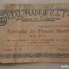 Coleccionismo deportivo: ENTRADA FUTBOL REAL MADRID CF.-SELECCION MEJICANA . 7-1 CAMPO CHAMARTIN. 27-11-49. Lote 147247670
