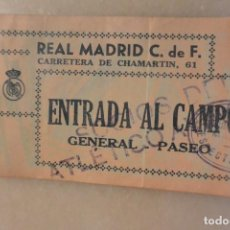 Coleccionismo deportivo: ENTRADA DE FUTBOL REAL MADRID-ATLETICO AVIACIÓN 1-1 16-9-45. 2-1. CPOA JOSE LUIS DEL VALLE. Lote 147274846