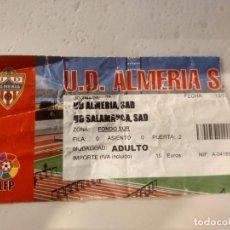 Coleccionismo deportivo: TICKET ENTRADA FOOTBALL FUTBOL ESPAÑA ALMERIA SALAMANCA. Lote 147530646