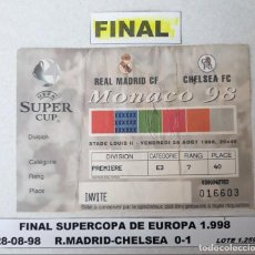 Coleccionismo deportivo: FINAL SUPERCOPA DE EUROPA 1.998. Lote 147568390