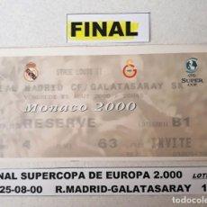 Coleccionismo deportivo: FINAL SUPERCOPA DE EUROPA 2.000. Lote 147568838