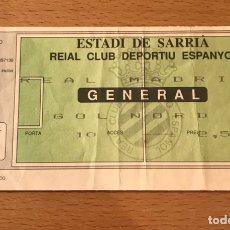 Coleccionismo deportivo: ESPAÑOL-REAL MADRID ESTADI DE SARRIA. Lote 148084302