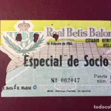 Coleccionismo deportivo: REAL BETIS/REAL MADRID,(1964).. Lote 148297121
