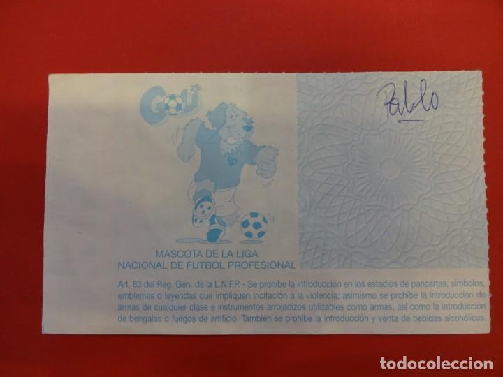 Coleccionismo deportivo: Entrada RCD ESPANYOL. Estadi de Sarrià. RCD ESPAÑOL-RAYO VALLECANO. Año 1992 - Foto 2 - 148464734