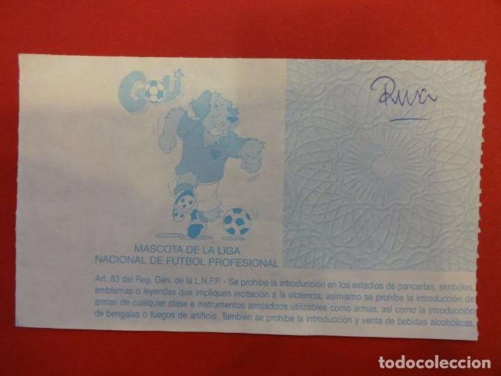 Coleccionismo deportivo: Entrada RCD ESPANYOL. Estadi de Sarrià. RCD ESPAÑOL-RAYO VALLECANO. Año 1992 - Foto 2 - 148464794