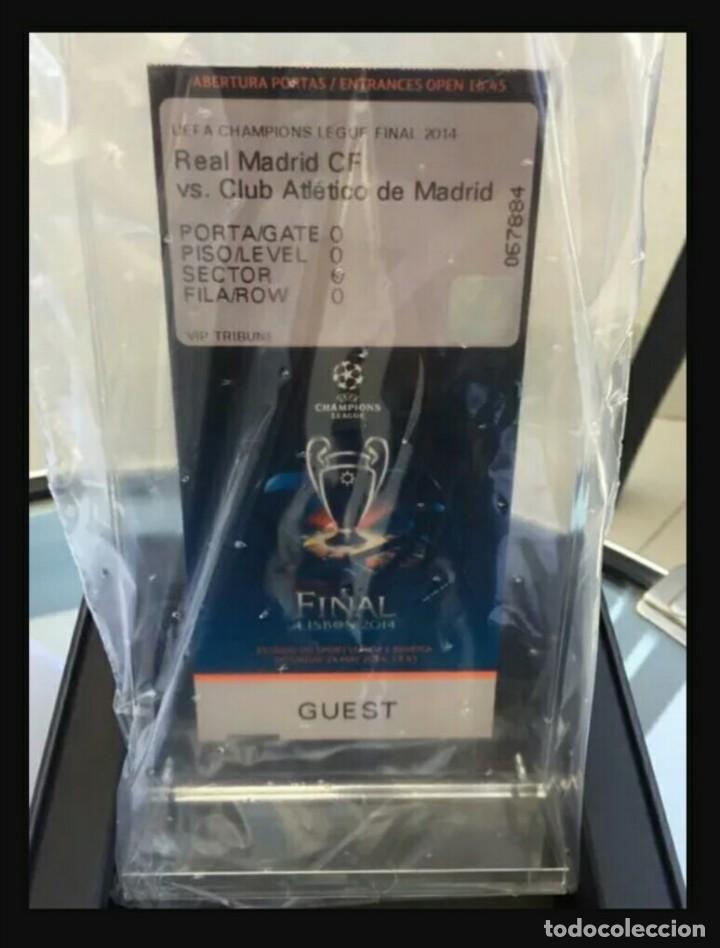 ENTRADA VIP REAL MADRID V ATLETICO MADRID CHAMPIONS LEAGUE FINAL 2014 LISBOA (Coleccionismo Deportivo - Documentos de Deportes - Entradas de Fútbol)