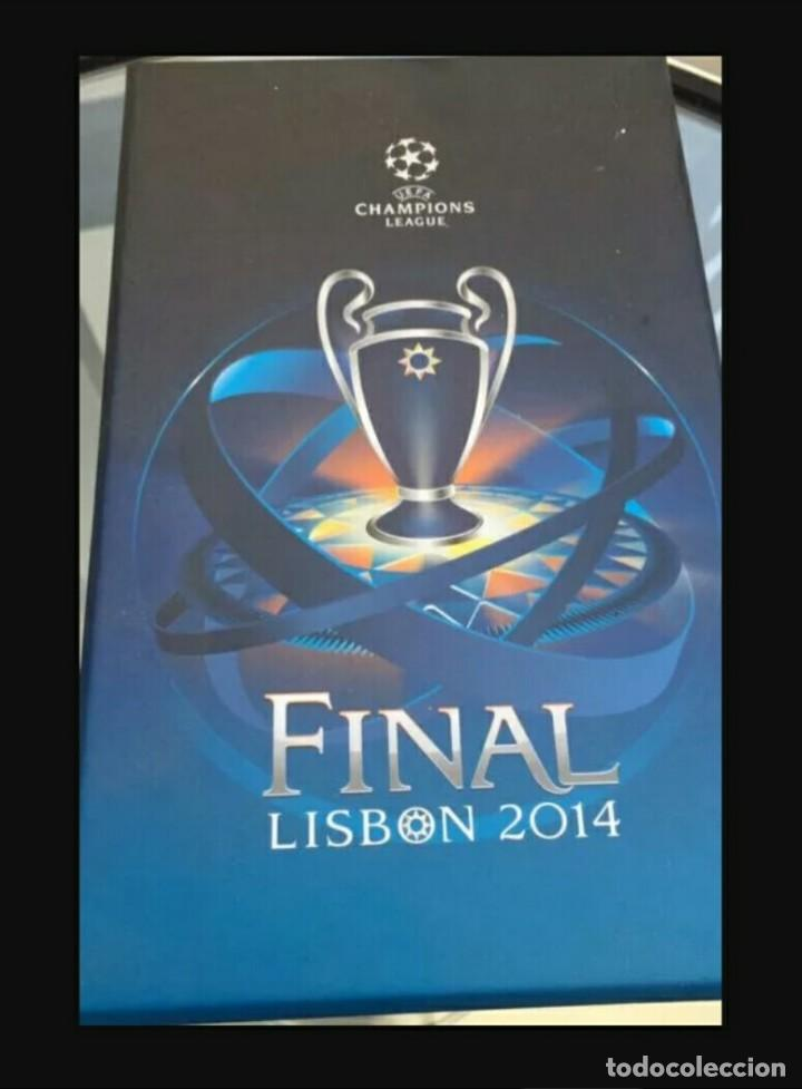 Coleccionismo deportivo: ENTRADA VIP REAL MADRID v ATLETICO MADRID CHAMPIONS LEAGUE FINAL 2014 LISBOA - Foto 3 - 148861642