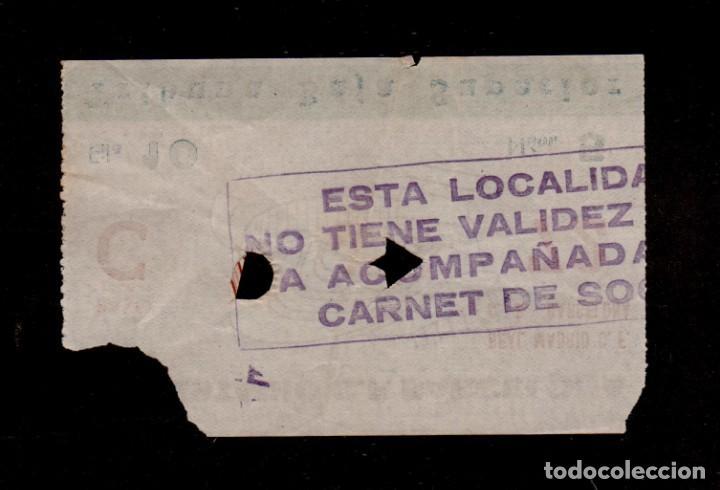 Coleccionismo deportivo: 0271 - REAL MADRID C.F. - C.F. BARCELONA Entrada Estadio C.F. Barcelona TRIBUNA BAJA SUPERIOR - Fil - Foto 2 - 150847894