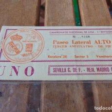 Coleccionismo deportivo: ENTRADA DE FUTBOL ESTADIO SANTIAGO BERNABEU SEVILLA REAL MADRID . Lote 150962838