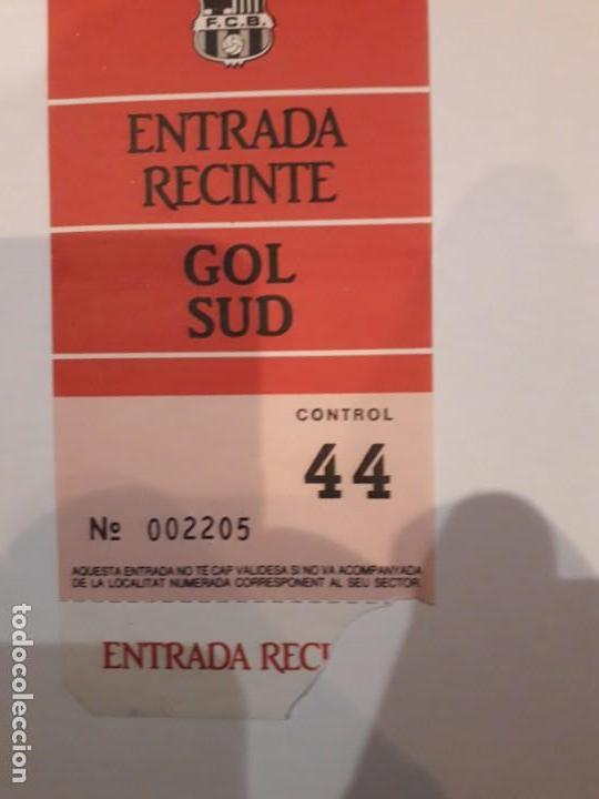 Coleccionismo deportivo: ENTRADAS A RECINTO( 2 )CONSECUTIVAS.ESTADIO NOU CAMP. - Foto 2 - 147539478