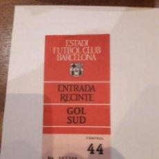Coleccionismo deportivo: ENTRADAS A RECINTO( 2 )CONSECUTIVAS.ESTADIO NOU CAMP.. Lote 147539478