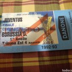 Coleccionismo deportivo: ENTRADA JUVENTUS - BORUSSIA DORTMUND 1993-1994 (FINAL COPA DE LA UEFA). Lote 46370149