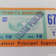Coleccionismo deportivo: ENTRADA FC BARCELONA- SELECCION ARGENTINA HOMENAJE CARLES REXACH AÑO 1981 BARÇA.. Lote 153806225