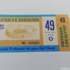 Coleccionismo deportivo: ENTRADA FC BARCELONA-HUMAN STARS AMISTOSO BENEFICIO UNICEF 1980. Lote 153817796