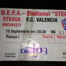 Coleccionismo deportivo: ENTRADA FUTBOL UEFA STEAUA BUCAREST VALENCIA 1998. Lote 153855453