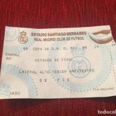 Coleccionismo deportivo: R5417 ENTRADA TICKET FUTBOL REAL MADRID COPA DEL REY OCTAVOS DE FINAL. Lote 153918418