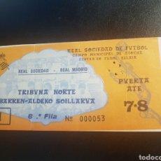 Coleccionismo deportivo: ENTRADA REAL SOCIEDAD REAL MADRID 1981. Lote 154343605