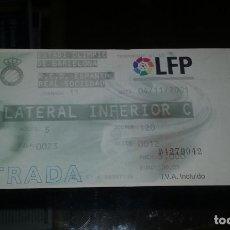 Coleccionismo deportivo: ENTRADA RCD ESPANYOL - REAL SOCIEDAD, ESTADI OLIMPIC DE BARCELONA 04-11-2001. Lote 154728598