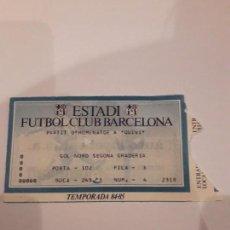 Coleccionismo deportivo: ENTRADA PARTIDO HOMENAJE A QUINI.ESTADIO F.C.BARCELONA.TEMPORADA 84.85. Lote 154854018