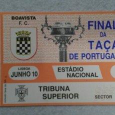 Coleccionismo deportivo: ENTRADA FUTBOL FINAL COPA PORTUGAL 1993. Lote 154992576