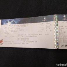 Coleccionismo deportivo: ENTRADA CHAMPIONS LEAGUE - A.C. MILAN - REAL MADRID - 03 - 11 - 2010. Lote 155101778
