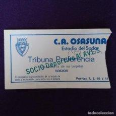Coleccionismo deportivo: ANTIGUA ENTRADA OSASUNA - DEPORTIVO ALAVES. CAMPO DEL SADAR. AÑOS 70 80. FUTBOL. Lote 155646130