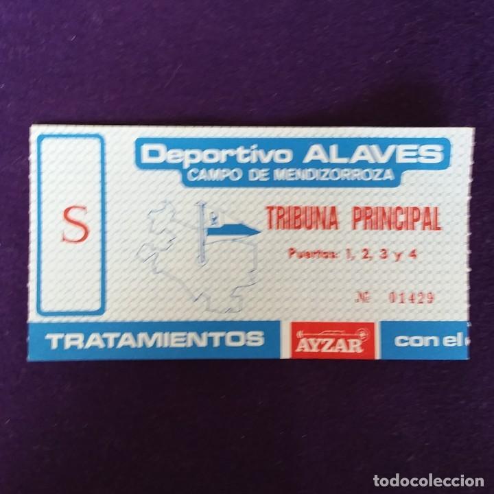ANTIGUA ENTRADA DEPORTIVO ALAVES. CAMPO DE MENDIZORROZA. AÑOS 70 80. FUTBOL (Coleccionismo Deportivo - Documentos de Deportes - Entradas de Fútbol)