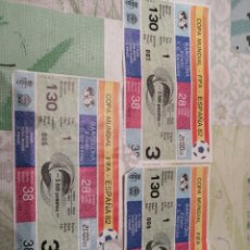 Coleccionismo deportivo: ENTRADAS MUNDIAL 82 NOU CAMP FILA 1. Lote 155686800