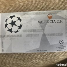 Coleccionismo deportivo: ENTRADA FUTBOL UEFA CHAMPION LEAGUE VALENCIA FC BARCELONA. Lote 155815022