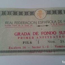 Coleccionismo deportivo: ENTRADA FINAL DE LA COPA DEL GENERALISIMO.AÑO 1968. Lote 155922974