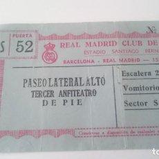 Coleccionismo deportivo: ENTRADA BARCELONA - REAL MADRID AÑO 1959. Lote 155923630