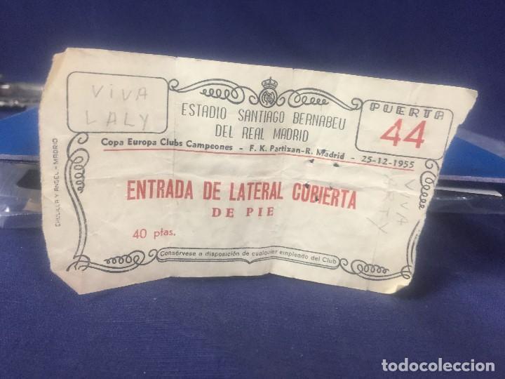 ENTRADA DE FUTBOL PARA LA PRIMERA COPA DE EUROPA 1955 ESTADIO SANTIAGO BERNABEU REAL MADRID 1 TITULO (Coleccionismo Deportivo - Documentos de Deportes - Entradas de Fútbol)